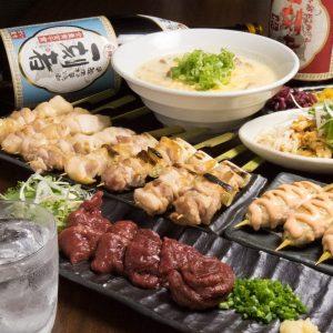 酉一途 西新宿店の鶏料理もお酒もしっかり楽しめるコース